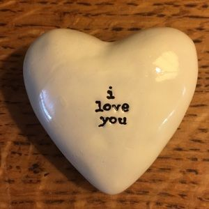 NATURAL LIFE Accents - Ceramic Heart Token